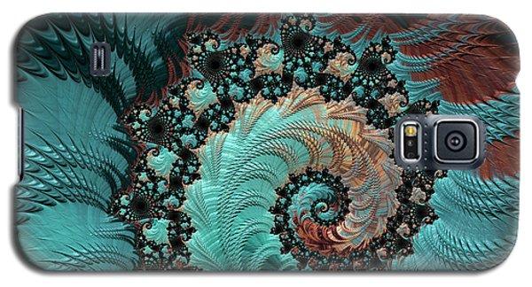 Galaxy S5 Case featuring the digital art Churning Sea Fractal by Bonnie Bruno
