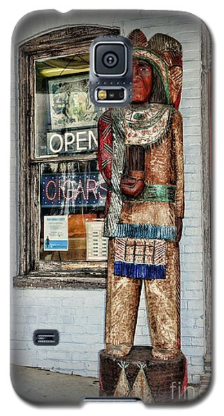 Galaxy S5 Case featuring the photograph Cigar Store Indian by Paul Ward