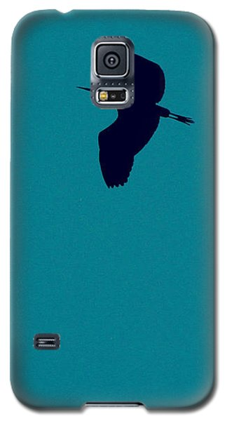Galaxy S5 Case featuring the digital art Cigogne En Silhouette by Marc Philippe Joly