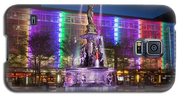 Cincinnati Fountain Square Galaxy S5 Case by Scott Meyer