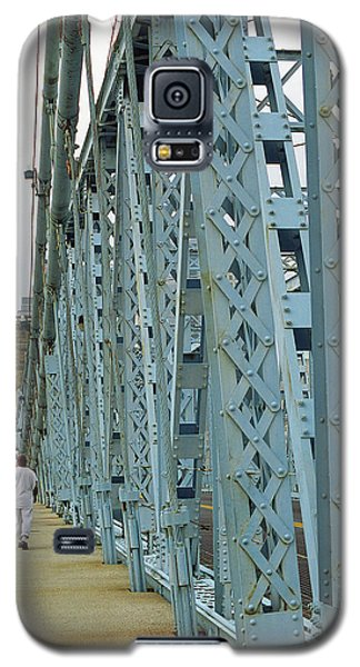 Cincinnati - Roebling Bridge 3 Galaxy S5 Case by Frank Romeo