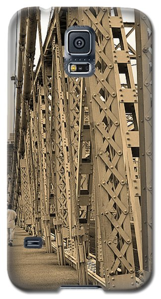 Cincinnati - Roebling Bridge 3 Sepia Galaxy S5 Case by Frank Romeo
