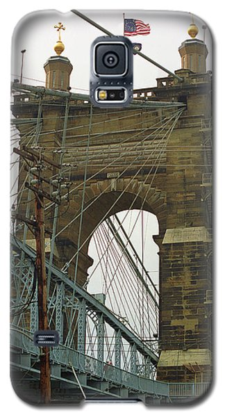 Cincinnati - Roebling Bridge 4 Galaxy S5 Case by Frank Romeo