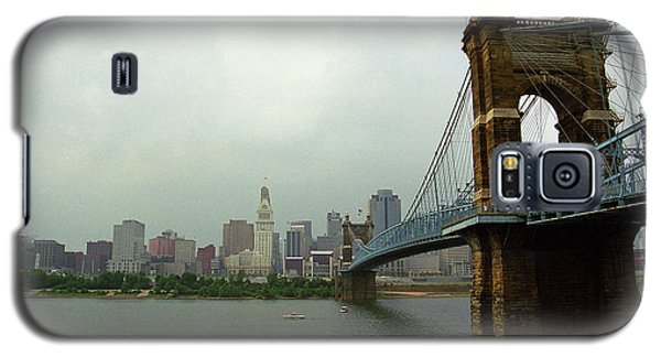 Cincinnati - Roebling Bridge 6 Galaxy S5 Case by Frank Romeo