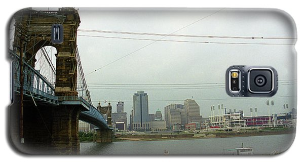 Cincinnati - Roebling Bridge 7 Galaxy S5 Case by Frank Romeo