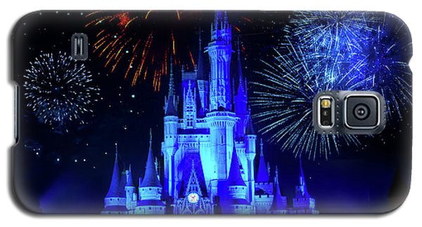 Cinderella Castle Fireworks Galaxy S5 Case by Mark Andrew Thomas