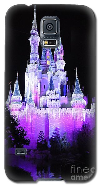 Galaxy S5 Case featuring the photograph Cinderella's Holiday Castle by John Black