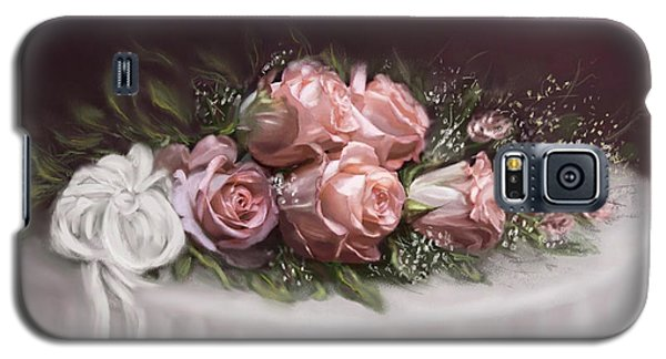 Galaxy S5 Case featuring the painting Spray Of  Roses by Bonnie Willis