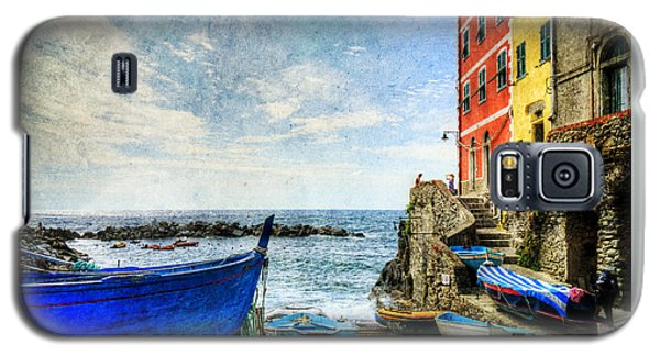 Cinque Terre - Little Port Of Riomaggiore - Vintage Version Galaxy S5 Case