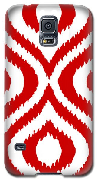 Circle And Oval Ikat In White T02-p0100 Galaxy S5 Case