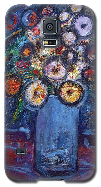Circle Of Flowers Galaxy S5 Case