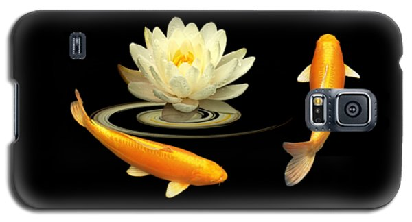 Circle Of Life - Koi Carp With Water Lily Galaxy S5 Case