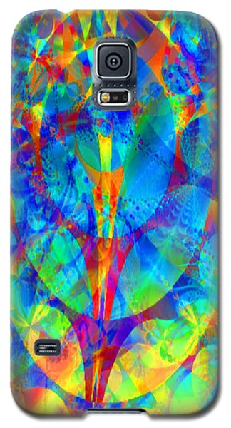 Galaxy S5 Case featuring the digital art Circles Of Life by Charmaine Zoe