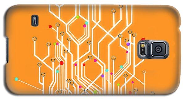 Circuit Board Graphic Galaxy S5 Case by Setsiri Silapasuwanchai