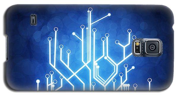 Abstract Galaxy S5 Case - Circuit Board Technology by Setsiri Silapasuwanchai