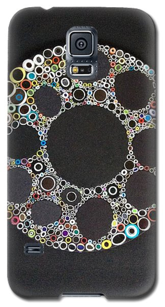 Galaxy S5 Case featuring the mixed media Circular Convergence Of Mutated Molecules by Douglas Fromm