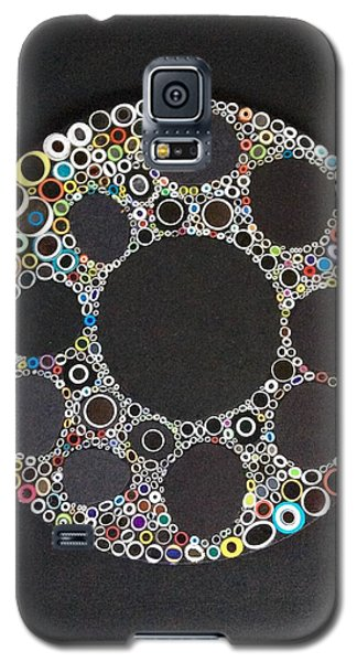 Circular Convergence Of Mutated Molecules Galaxy S5 Case by Douglas Fromm