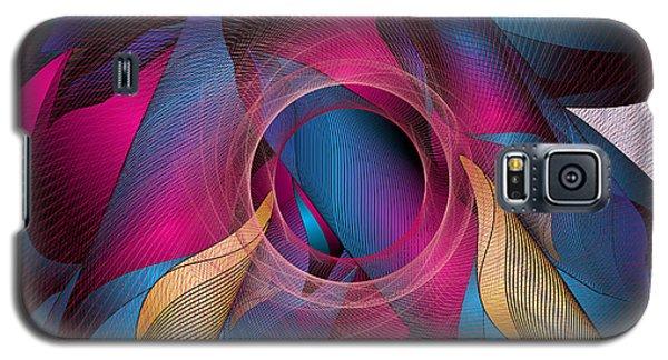Galaxy S5 Case featuring the digital art Circulosity No 3271 by Alan Bennington