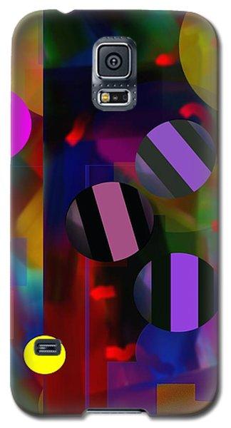 Galaxy S5 Case featuring the digital art Circus Balls by Lynda Lehmann