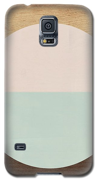 Cirkel In Peach And Mint- Art By Linda Woods Galaxy S5 Case by Linda Woods