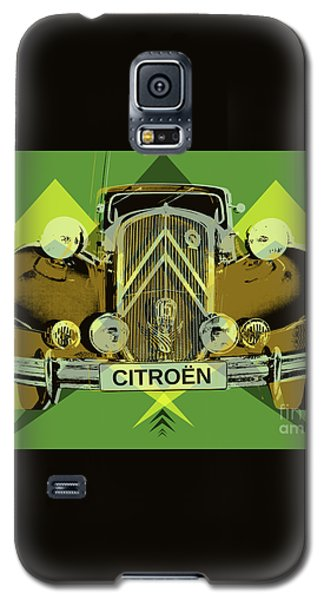 Galaxy S5 Case featuring the digital art Citroen Traction Avant  by Jean luc Comperat