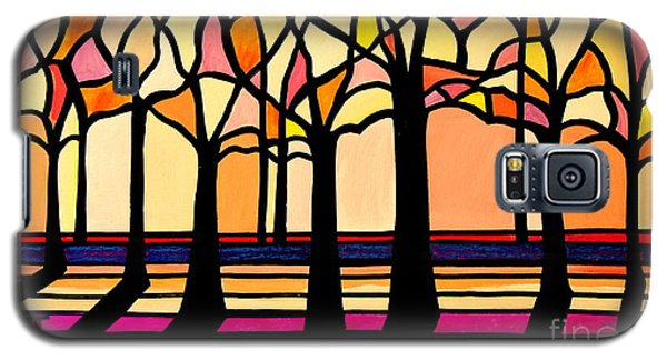 Citrus Glass Trees Galaxy S5 Case