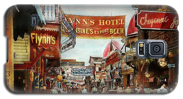 Galaxy S5 Case featuring the photograph City - Coney Island Ny - Bowery Beer 1903 by Mike Savad