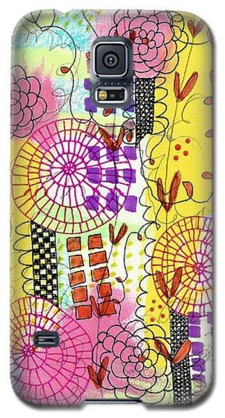 City Flower Garden Galaxy S5 Case by Lisa Noneman