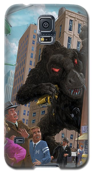 Galaxy S5 Case featuring the digital art City Invasion Furry Monster by Martin Davey