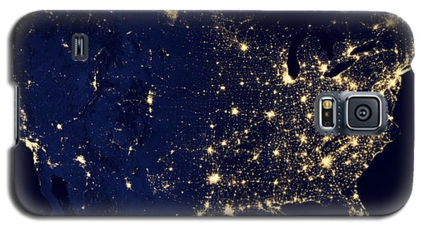City Lights Of The United States Galaxy S5 Case
