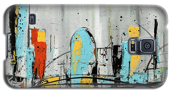 Galaxy S5 Case featuring the painting City Limits by Carmen Guedez