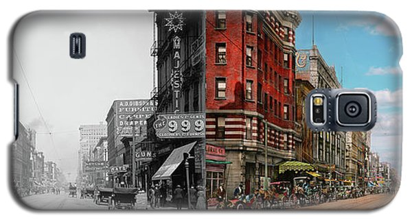 Galaxy S5 Case featuring the photograph City - Memphis Tn - Main Street Mall 1909 - Side By Side by Mike Savad