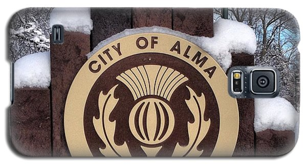 City Of Alma Michigan Snow Galaxy S5 Case