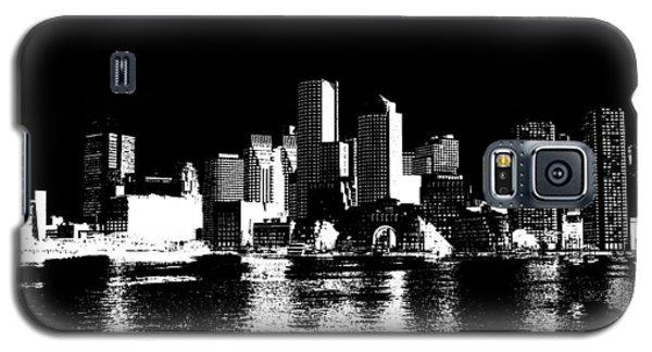 City Of Boston Skyline   Galaxy S5 Case by Enki Art