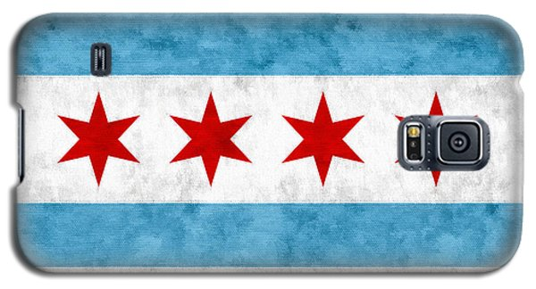 Galaxy S5 Case featuring the mixed media City Of Chicago Flag by Christopher Arndt