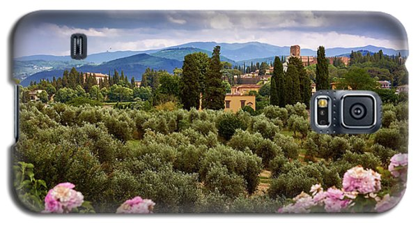 Tuscan Landscape With Roses And Mountains In Florence, Italy Galaxy S5 Case