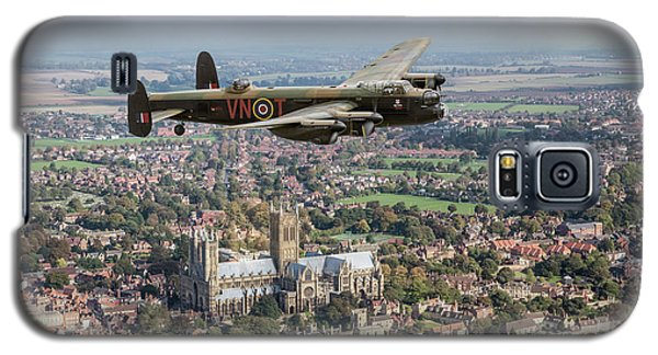 Galaxy S5 Case featuring the photograph City Of Lincoln Vn-t Over The City Of Lincoln by Gary Eason