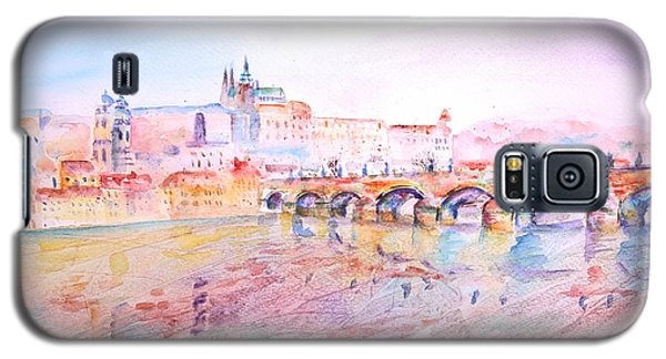 Galaxy S5 Case featuring the painting City Of Prague by Elizabeth Lock