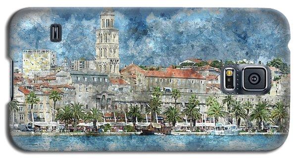 City Of Split In Croatia With Birds Flying In The Sky Galaxy S5 Case