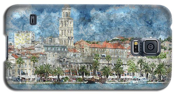 City Of Split In Croatia With Birds Flying In The Sky Galaxy S5 Case