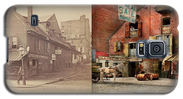Galaxy S5 Case featuring the photograph City - Pa - Fish And Provisions 1898 - Side By Side by Mike Savad
