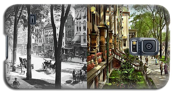 Galaxy S5 Case featuring the photograph City - Saratoga Ny -  I Would Love To Be On Broadway 1915 - Side By Side by Mike Savad