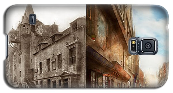 Galaxy S5 Case featuring the photograph City - Scotland - Tolbooth Operator 1865 - Side By Side by Mike Savad