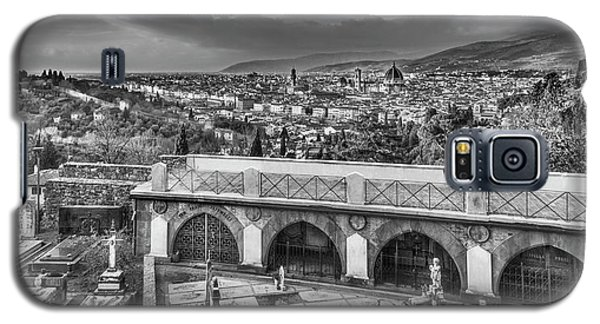 Cityscape Of Florence And Cemetery Galaxy S5 Case by Sonny Marcyan