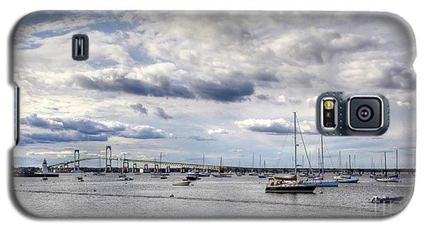 Galaxy S5 Case featuring the photograph Claiborne Pell Newport Bridge by Adrian LaRoque