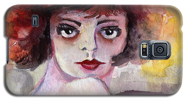Galaxy S5 Case featuring the painting Clara Bow Vintage Movie Stars The It Girl Flappers by Ginette Callaway