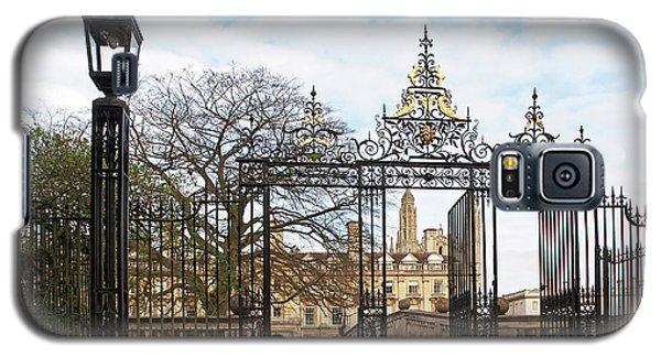 Galaxy S5 Case featuring the photograph Clare College Gate Cambridge by Gill Billington
