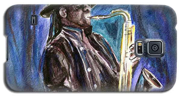 Galaxy S5 Case featuring the painting Clarence Clemons by Clara Sue Beym