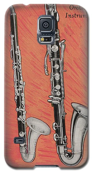 Clarinet And Giant Boehm Bass Galaxy S5 Case by American School