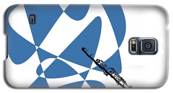 Clarinet In Blue Galaxy S5 Case by David Bridburg